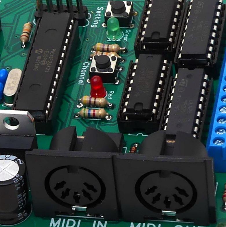 Midi encoder board